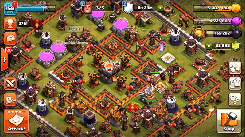 clash of clans hack, coc hack, clash of clans free gems